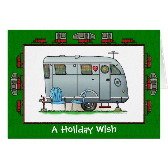 Spartanischer Wohnwagenanhänger-Feiertags-Wunsch Grußkarte