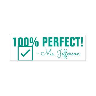 "Spaß ""100% PERFEKT!"" Bestätigungs-Gummi-Briefmarke Permastempel"