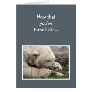 Spaß-30. Geburtstags-Nickerchen machendes Karte
