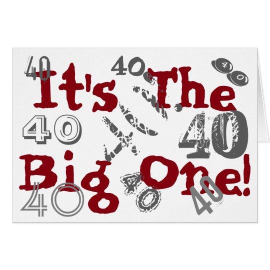 Spaß, 40. Geburtstag, Lose 40s', grau, rot, weiß Karte