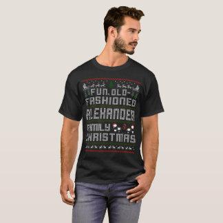 Spaß altmodisch, Alexander-Familienweihnachten T-Shirt