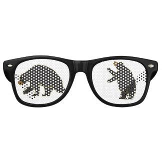 Spaß-Bärn-Gläser Retro Sonnenbrillen