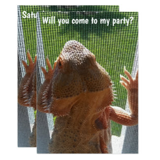 Spaß-bärtige Drache-Geburtstags-Party Einladung