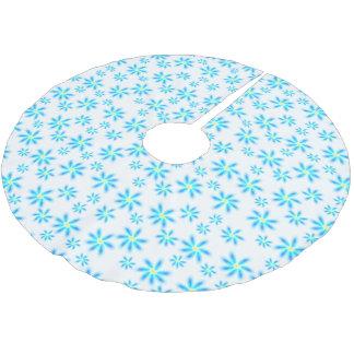 Spaß-blauer Blumenbaum-Rock Polyester Weihnachtsbaumdecke