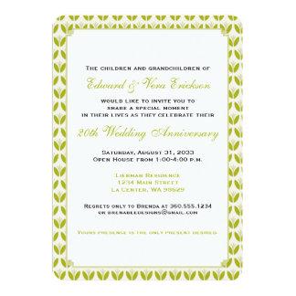 Spaß-Blumenjahrestags-Party Karte