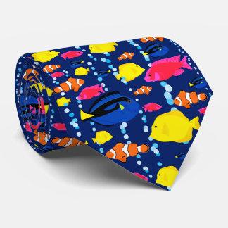 Spaß-bunte tropische Fische und Blasen Personalisierte Krawatte