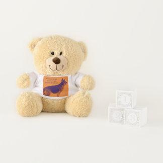 Spaß-bunter Schäferhund Teddybär