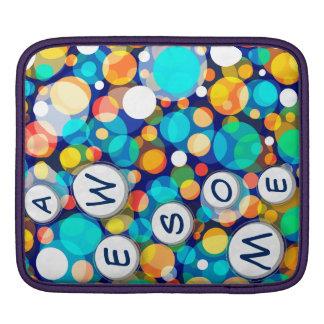 Spaß-buntes Punkt-Muster (Kinder, Feiern) Sleeve Für iPads