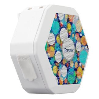 Spaß-buntes Punkt-Muster (Kinder, Feiern) Weiße Bluetooth Lautsprecher