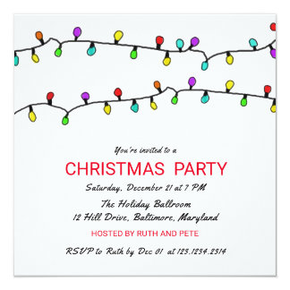 Spaß-buntes Weihnachtslicht-WeihnachtsParty Karte