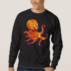 Spaß-Cartoon-Kraken-Sweatshirt Sweatshirt