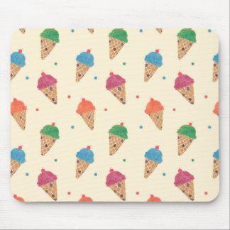 Spaß-Eiscreme-Muster Mauspad