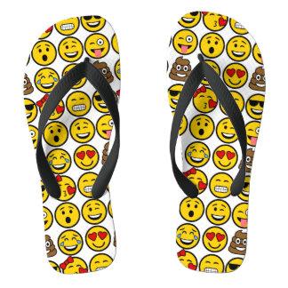 Spaß Emoji Muster-Gefühl-Gesichter Badesandalen