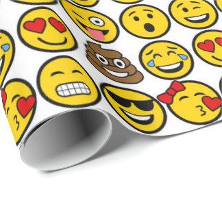 Spaß Emoji Muster-Gefühl-Gesichter Einpackpapier