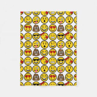 Spaß Emoji Muster-Gefühl-Gesichter Fleecedecke