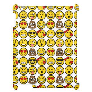 Spaß Emoji Muster-Gefühl-Gesichter iPad Hülle