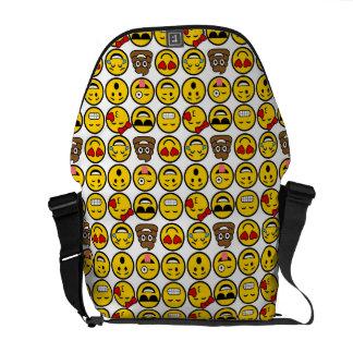 Spaß Emoji Muster-Gefühl-Gesichter Kurier Taschen