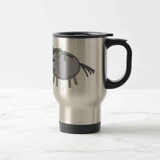 Spaß-Esel auf Weiß Edelstahl Thermotasse