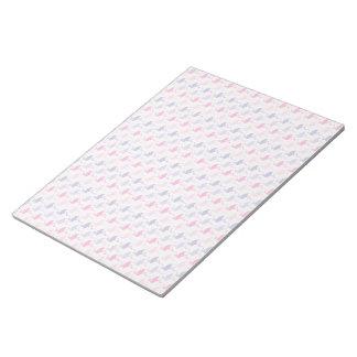 Spaß-Flamingo-Muster Memo Notizblöcke