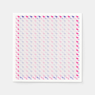 Spaß-Flamingo-Muster Servietten