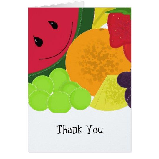 Spaß-Frucht-Explosion danken Ihnen Grußkarte