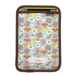 Spaß-Frühstücksnahrung-Illustrations-Muster iPad Mini Sleeve