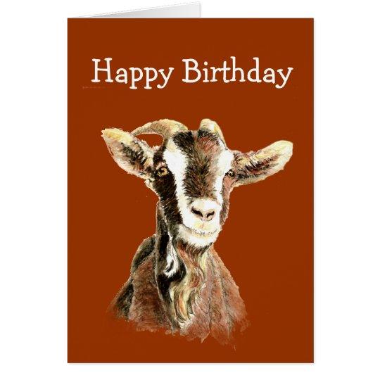 Spaß-Geburtstag, von der alten Ziege die Lieben Grußkarte
