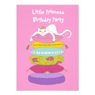 Spaß-Geburtstags-Party kleiner Prinzessin lädt Personalisierte Ankündigungskarten
