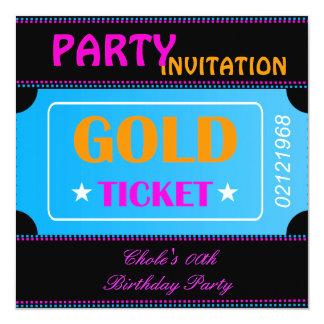 Spaß-Geburtstags-Party-Mädchen-jugendlich Quadratische 13,3 Cm Einladungskarte