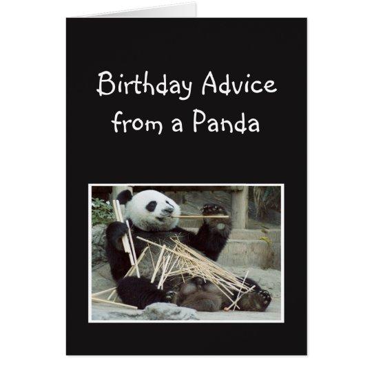 Spaß-Geburtstags-Rat vom Panda-Bärn-Tier-Spaß Grußkarte