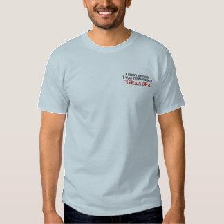 Spaß gefördert zum Großvater Besticktes T-Shirt