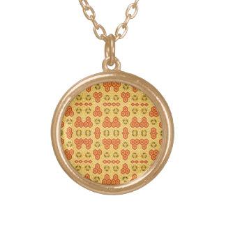 Spaß-geometrisches Orange und gelb Vergoldete Kette