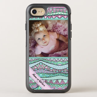 Spaß-Girly geometrisches Pastellmuster OtterBox Symmetry iPhone 8/7 Hülle