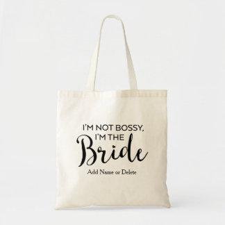 Spaß-Hochzeits-Tasche Tasche-Bossy Braut-Leinwand Budget Stoffbeutel