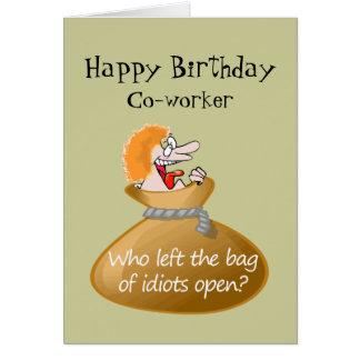 Spaß-Idiot-freier Geburtstag für Ihren Mitarbeiter Karte