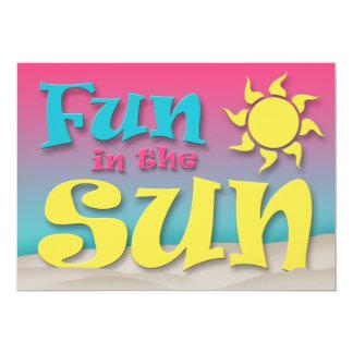 Spaß im Sun - Strand-Party Einladungen