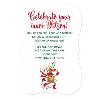 Spaß-Innere-Blitzen Feiertags-Party Einladung Karte