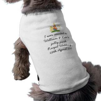 Spaß-königliche Hochzeitshündchenjacke T-Shirt
