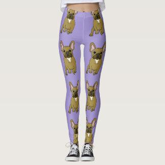 Spaß-lila französische leggings