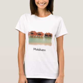 Spaß-Malediven-Insel-Strand-Bungalow-coole T-Shirt