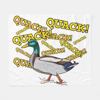 Spaß-männliche Stockenten-Enten-gehender Quaken Fleecedecke