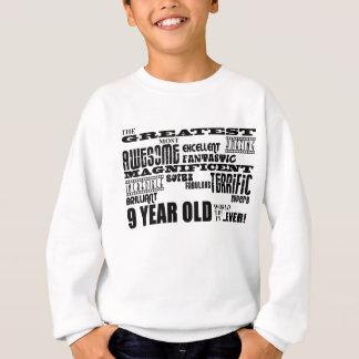 Spaß-moderne 9 Geburtstags-Party-bestste neun Sweatshirt
