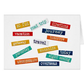 Spaß-motivierend Ferien-Reise-Wörter Karte