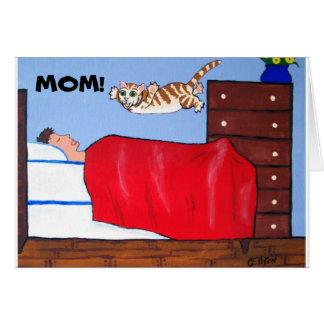 Spaß-Mutter-Tageskatzen-Karte Karte