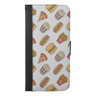 Spaß-Nahrungsmittelmuster iPhone 6/6s Plus Geldbeutel Hülle