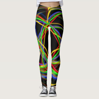 Spaß-Neon-Stränge Leggings