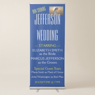 Spaß-personalisierte Film-Thema-Hochzeit Ausziehbarer Banner