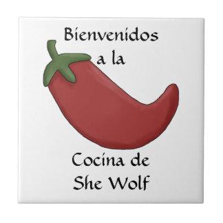 Spaß-personalisiertes spanisches Küchen-Namenswill Keramikfliese