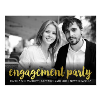 Spaß-persönliches Foto des Verlobungs-Party-  Postkarte