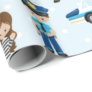 Spaß-Polizei kopiert Partyverpackungspapier Geschenkpapier